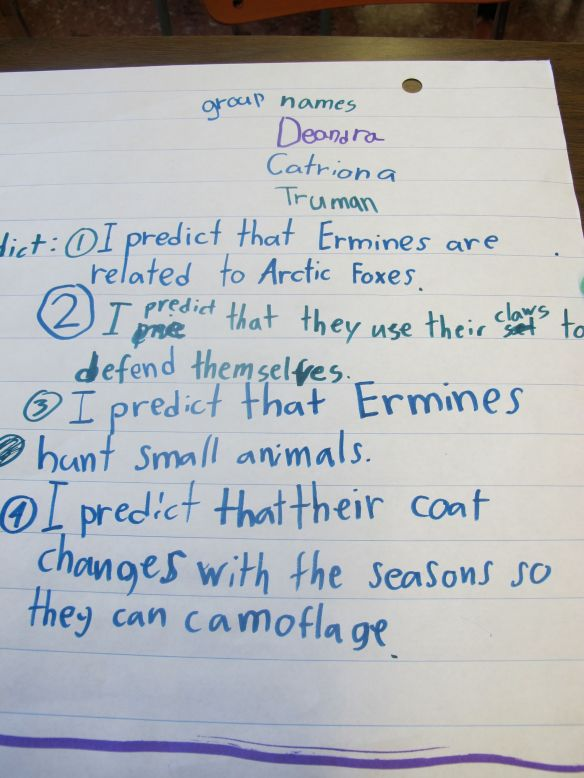 Predictions about ermines from another group