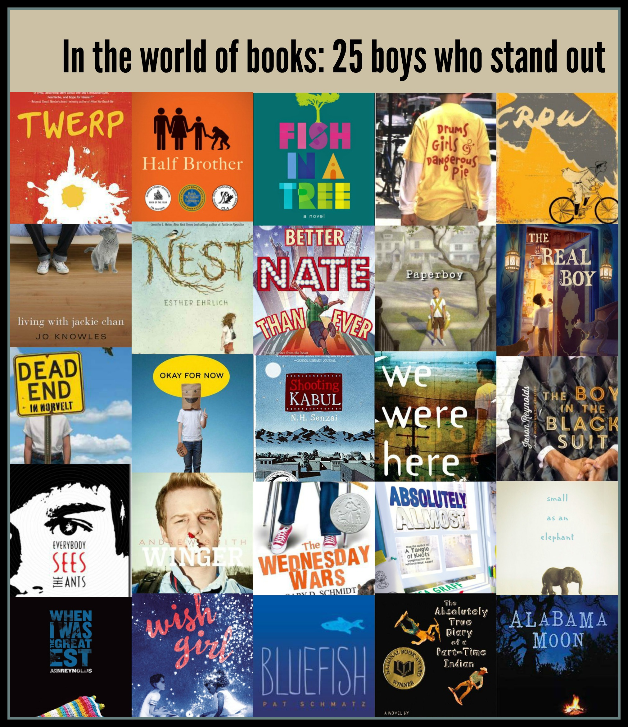 In the world of books 25 boys who stand out Theres a Book for That