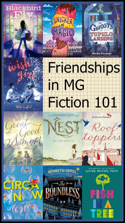 Friendships in MG Fiction 101 Top Ten Tuesday: Titles that feature wonderful friendships in MG literature There's a Book for That