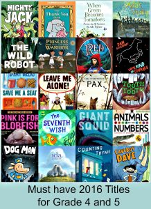 Twenty 2016 titles your Grade 4 and 5 classroom library must have! There's a Book for That